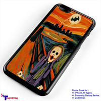 Scream Batman and Joker - Personalized iPhone 7 Case, iPhone 6/6S Plus, 5 5S SE, 7S Plus, Samsung Galaxy S5 S6 S7 S8 Case, and Other