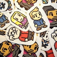 Community 8-bit characters sticker pack from Stickerama