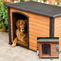 Precision Extreme Outback Log Cabin Dog House with FREE Dog Door   www.hayneedle.com