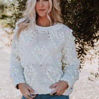 Wild Heart Pom Pom Sweater - Ivory