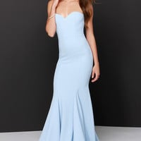 Sorella Light Blue Strapless Maxi Dress