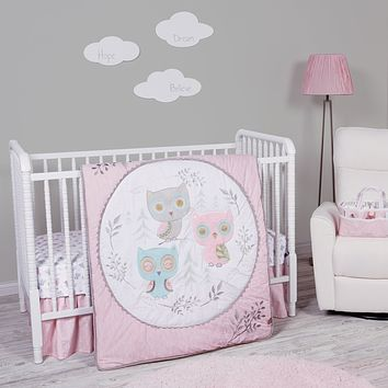 Baby Bed  - Feathered Friends 3 Piece Crib Bed Set