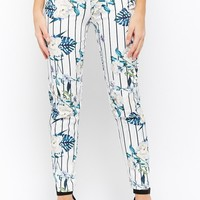 Floral Striped Trousers