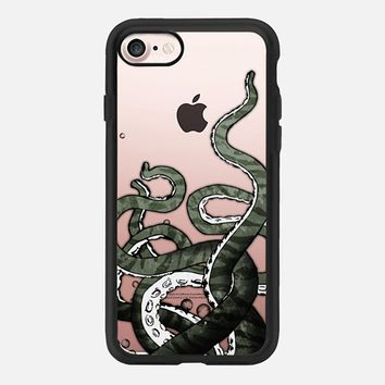 Octopus Tentacles - Transparent iPhone 7 Case by Nicklas Gustafsson | Casetify