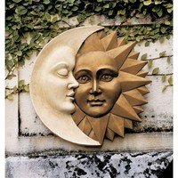 SheilaShrubscom: Celestial Harmony: Sun and Moon Wall Sculpture NG32758 by Design Toscano: Wall Mounts