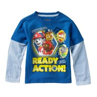 Paw Patrol ''Ready for Action'' Mock-Layer Tee - Toddler Boy, Size: