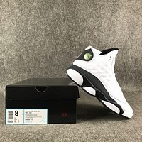 Air Jordan Retro 13 Love And Respect White Black shoes