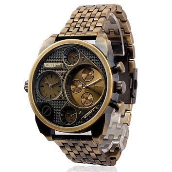 Mens Casual Outdoor Sports Copper Alloy Strap Watch Vintage Army Style Military Watches Hight Quality Best Christmas Gift
