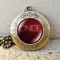 Sone charming Once Upon A Time Inspired Glass Dome Necklace Once Upon A Time vintage pendant locket necklace