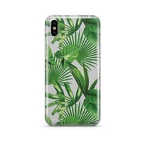 Tropical Palm Leaves - Clear TPU Case