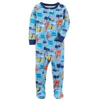 Baby Boy Carter's Graphic One-Piece Footed Pajamas | null