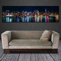 canvas painting wall art picture city night art print canvas posters wall art Painting home decor landcape art print no frame