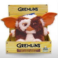Sing & Dance Gremlins Gizmo Doll - Fully-licensed singing Gizmo gremlin plush doll from the movie