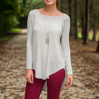 Leaning Toward Lethargy Top, Gray