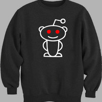 Reddit Alien White Sweater for Mens Sweater and Womens Sweater *