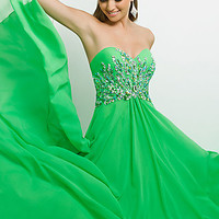 Long Strapless Evening Gown by Blush