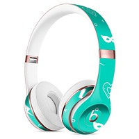 Teal Doodles with Lightning Full-Body Skin Kit for the Beats by Dre Solo 3 Wireless Headphones