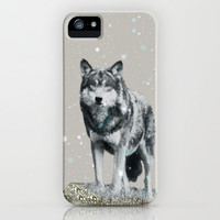 NEW *** GLITTER WOLF  IPHONE CASE by M✿nika  Strigel | Society6   for iphone  5 + 4S + 4 + 3GS + 3G , ipad, ipad mini, skins and prints!