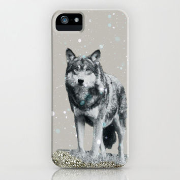 NEW *** GLITTER WOLF  IPHONE CASE by M✿nika  Strigel   Society6   for iphone  5 + 4S + 4 + 3GS + 3G , ipad, ipad mini, skins and prints!
