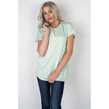 The Roxie Tee in Mint Green (S-XL)