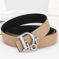 Dior Classic Popular Woman Men Fashion Smooth Buckle Leather Belt