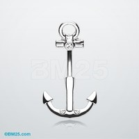 Classic Anchor Belly Button Ring