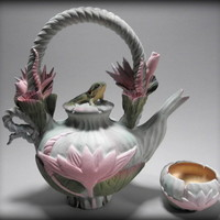 Waterlily Tea by Nancy Y Adams: Ceramic Teapot | Artful Home