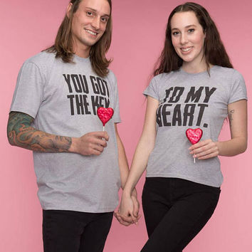 Matching Couples Gift, Valentines Day, Gift for him, You Got the Key to my Heart Shirts, Couples Gifts, Valentines Shirts, Cute Matching tee