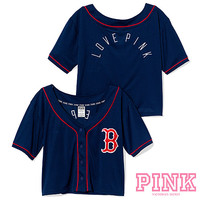 Boston Red Sox Victoria's Secret PINK® Crop Baseball Jersey