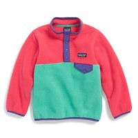 Toddler Girl's Patagonia 'Synchilla - Snap-T' Fleece Pullover,