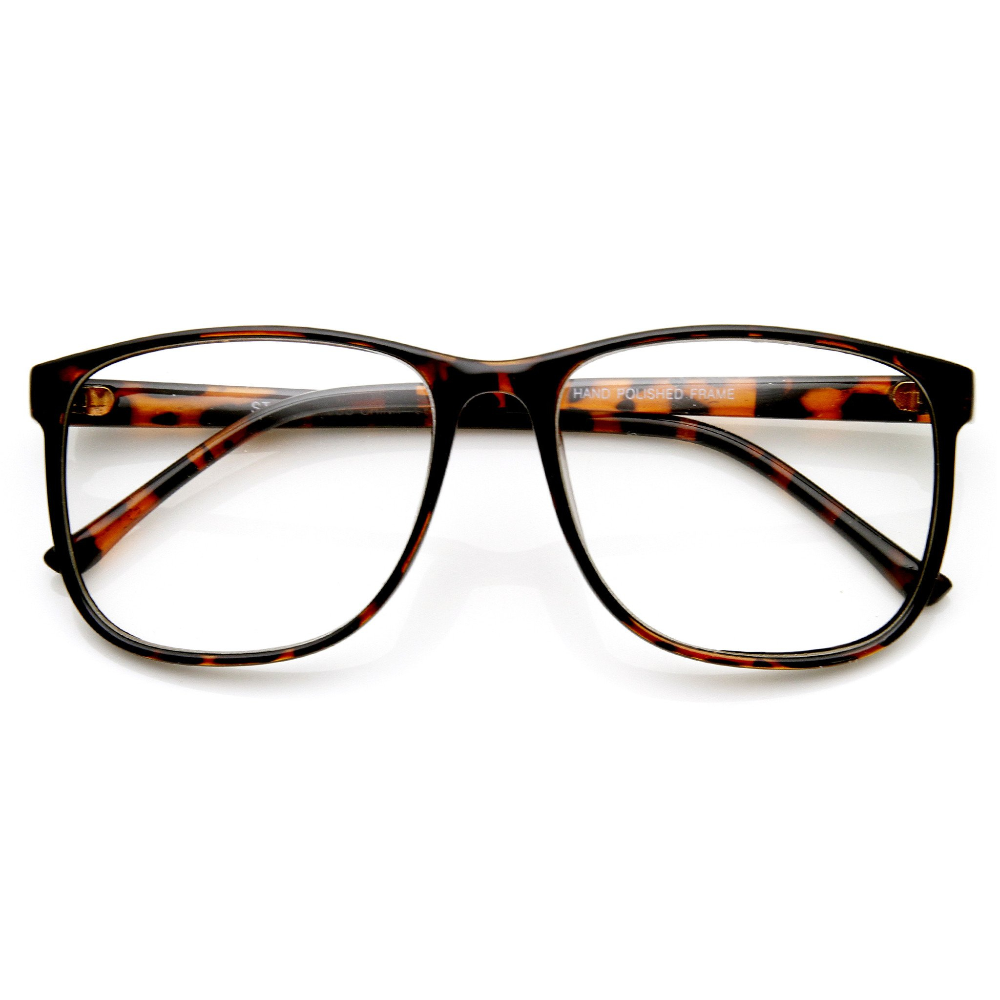 Image of Large Retro Nerd Hipster Fashion Clear Lens Glasses 9339