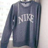 NIKE Fashion Casual Long Sleeve Letter Print Sport Top Sweater Pullover Sweatshirt