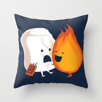 Friendly Fire Throw Pillow by Budi Satria Kwan