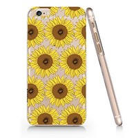 Sunflower Pattern Slim Iphone 6 Plus- 6S Plus Case, Clear Iphone 6 Plus- 6S Plus Case Plastic Hard Case Unique Design-Quindyshop (AM641)