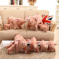 Creatively Super Cute Simulation Sow Piggy Doll Plush Toys,Kids Toys Pillow Girlfriend Gifts Christmas Birthday Gift Brinquedos