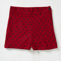 Jive Been Thinking Shorts in Red | Mod Retro Vintage Shorts | ModCloth.com