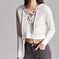 Hooded Lace-Up Top