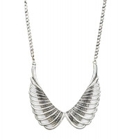 Angel Wings Studded Necklace