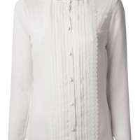 Red Valentino scalloped detail blouse