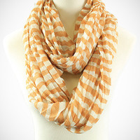 Cozy by LuLu - University Stripes Infinty Loop in Caramel and Cream