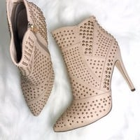 Live After Midnight Studded Nude Heels