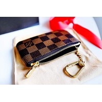 Louis Vuitton Monogram Canvas Key Pouch Key case - purse B-MYJSY-BB Coffee For Black Friday