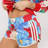 adidas Originals Big Floral Print Mini Shorts