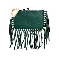 Valentino - Leather Mini Fringe Clutch with Zodiac
