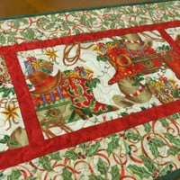 Quilted Holiday Table Runner - Joy of Christmas 502