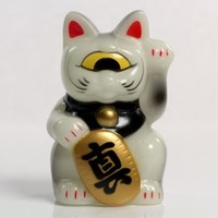 RxH Mini Fortune Cat - Glow / Black / Yellow Eye