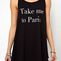 Wildfox Take Me To Paris Vest Dress Exclusive To Asos