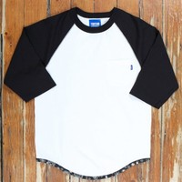 RAGLAN 3/4 POCKET TEE WHITE Was $90, Now | Up There Store