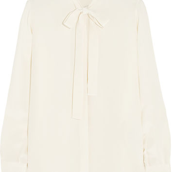 Valentino - Pussy-bow silk blouse