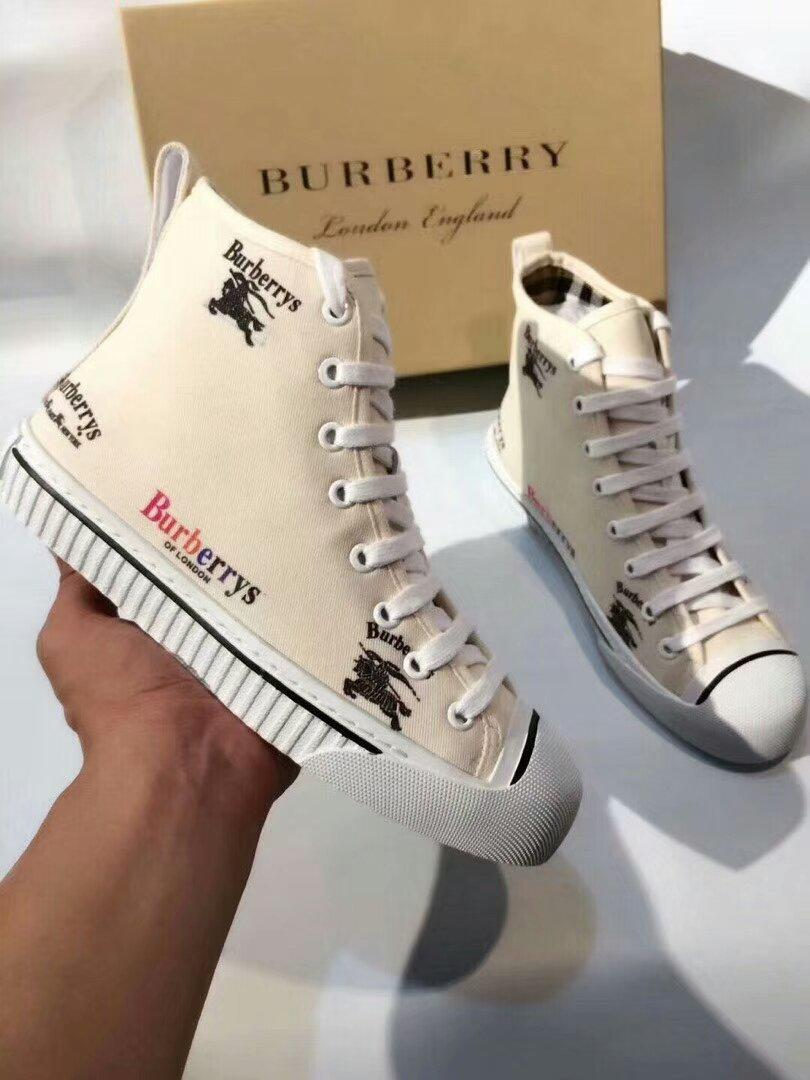 Image of BURBERRY 2018 new trend casual canvas shoes sports shoes F-OMDP-GD